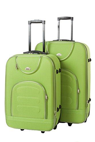 Softcase Softcase Kofferset New York 2-teilig Gr. L+XL, 67+76cm, 39+57Liter 7 verschiedene Farben (hellgrün)