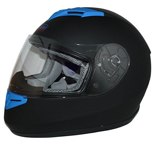 Protectwear Motorradhelm V121-BL schwarz-blau matt - M - 5