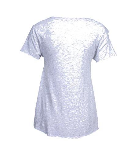 American Vintage Damen Shirt Jacksonville in Zart Grau polaire chine