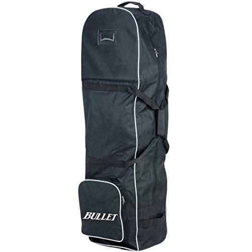 New Lightweight Padded Black Bullet Deluxe Padded Golf Bag Flight Travel Holiday Cover Wheeled Shoe Case With Wheels