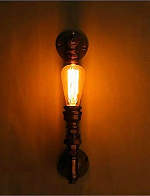 American Retro Industrial Water Aisle Stairs Creative Personality Restaurant Bar Single Head Iron Wall Lamp
