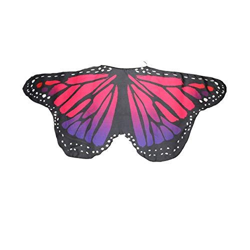 DEELIN Damen Karneval Cosplay Stil Frauen Böhmischen Schmetterling Print Schal Pashmina Kostüm Zubehör Schlank Mode Flügel Schal