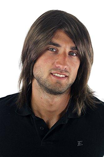 Peluca masculina, hombre, pelo largo, juvenil, moderno