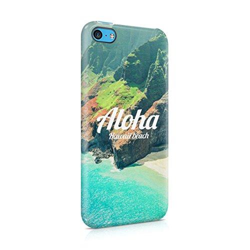 Hawaii The Island Of Aloha Chill Tropical Sommer Beach Good Vibes Dünne Rückschale aus Hartplastik für iPhone 7 & iPhone 8 Handy Hülle Schutzhülle Slim Fit Case cover Hawaii Beach