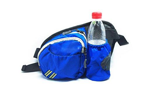 DoubleVillages Outdoor Marsupio sportivi Marsupio Con Cintura Borsa Cintura da Corsa Waist pack - per Sport e tempo libero -Corsa, Bicicletta ,Jogging , Trekking ,Allenamenti, Camping , Jogging, Bikin BLU