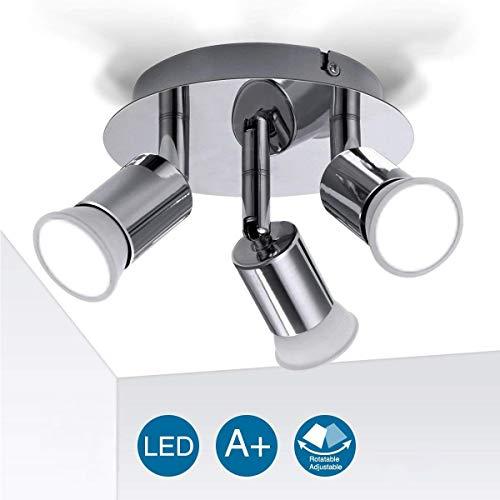 Ceiling Light Fitting, Elfeland 3 Way Pendant Light Ceiling Spotlight  Rotatable Swiveling Lamp 3X GU10 Light Bases Angle Adjustable Indoor  Lighting