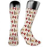 Motif de sirop d'érable de crêpe de drapeau du Canada chaussettes chaussettes de cheville chaussettes d'équipage chaussettes de tube d'équipage pour les hommes et les femmes