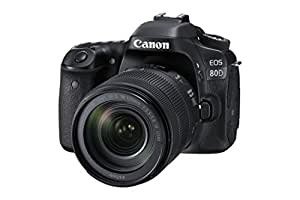 Canon EOS 80D EF-S 18-135 IS USM SLR-Digitalkamera (24,2MP, NFC und WLAN, Full HD, 7,7 cm (3 Zoll)) schwarz