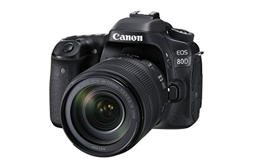 Canon EOS 80D Kit Fotocamera Reflex Digitale, 24.2 Megapixel, con Obiettivo EF-S 18-135 mm, f/3.5-5.6 IS U, Nero [Versione Canon Pass Italia]