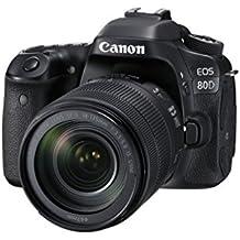 Canon EOS 80D Kit Fotocamera Reflex Digitale, 24.2 Megapixel, con Obiettivo EF-S 18-135 mm, f/3.5-5.6 IS U, Nero