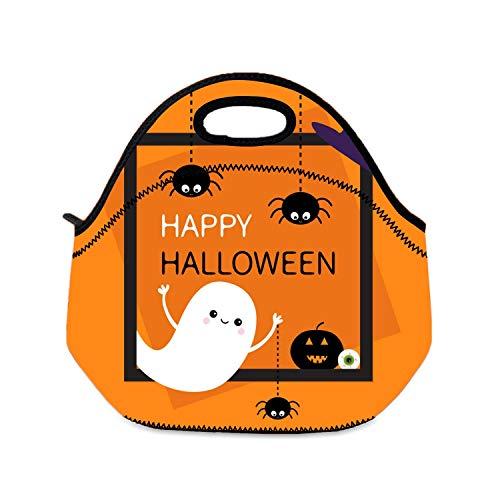 Mädchen Lunchbox Happy Halloween Flying Ghost Lunchbox Jungen Schule Reise Picknick Lunchbox Tragetasche