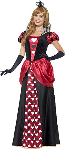 Damen Fancy historischen Party Princess Outfit Royal Rot Queen Komplettes Kostüm Gr. UK Kleid 42-44, rot