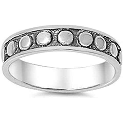 Sterling Anello Dots argento - Sterling Silver Dot Design