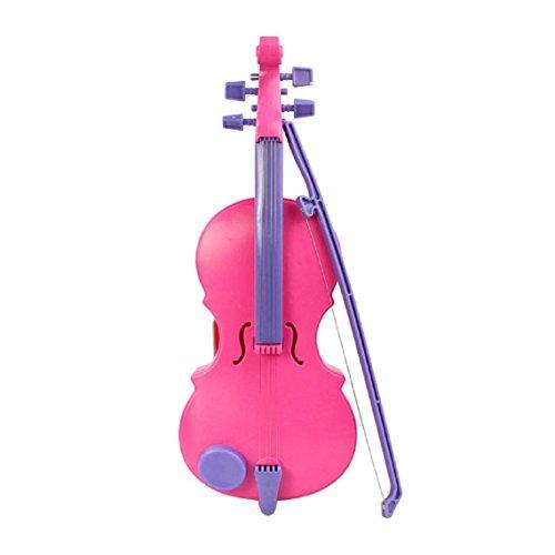 SODIAL(R) Musikinstrument Kinder Magie Geige Musik Singen Spielzeug Spass Geschenk Rosa