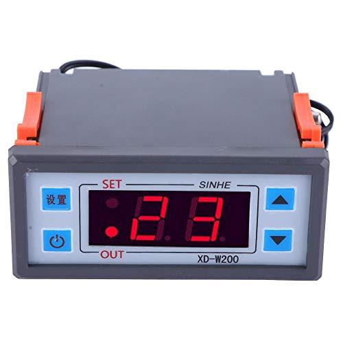 Liukouu XD-W200 Digital Thermostat einstellbarer Temperaturregler LCD-Display(12V) -