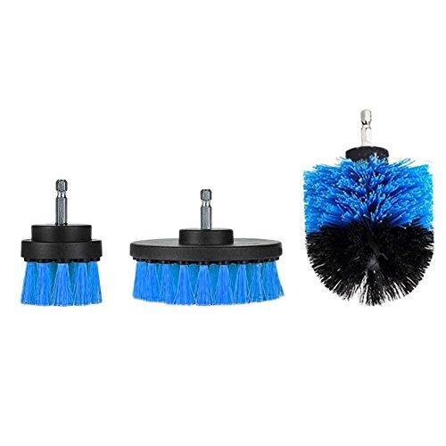 ESHOO 3 Stück Bohrmaschine Bürstenaufsatz - Scrubber Reinigung Kit für Küche Badezimmer Oberflächen Fliesen Duschen Tile Teppich Bodenbelag (Teppich-fliesen Im Freien)