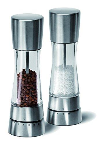 Cole & Mason Gourmet Precision Coffret cadeau moulins sel et poivre en acrylique et inox 190 mm