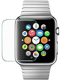 Forepin® Transparent Montre Film Protection en Verre Trempé écran Film pour Apple Watch 42mm Sport & Edition Tous les Modèles Écran en Verre Trempé Protector Foil, 1Pcs