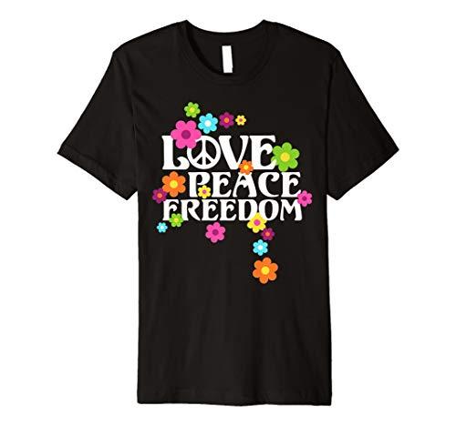 Retro Flower Power 60er 70er - Love Peace Freedom 2 T-Shirt