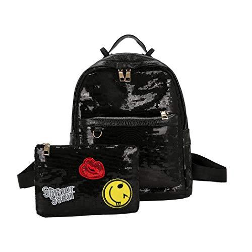 Mode Bling Pailletten Handtasche Schultertasche Felicove Schule Rucksäcke für Frauen Mädchen