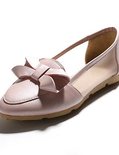 ZQ gyht Scarpe Donna-Ballerine-Casual-Comoda / A punta-Piatto-Finta pelle-Blu / Rosa / Bianco , pink-us8 / eu39 / uk6 / cn39 , pink-us8 / eu39 / uk6 / cn39 white-us7.5 / eu38 / uk5.5 / cn38