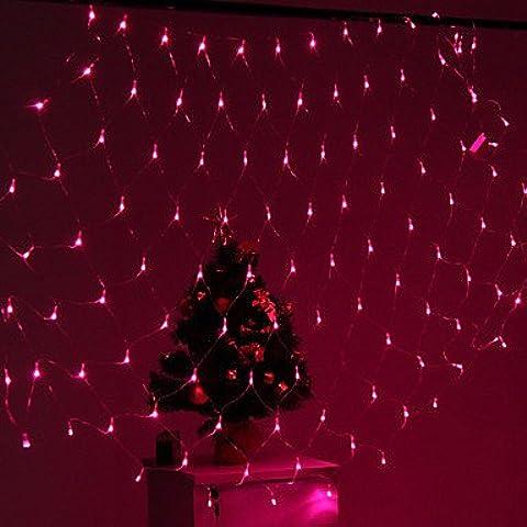 ZJ Decoración Festival 120 LED 8-Mode Rosa Lámparas de luz netas Fence Garden Party (220V)