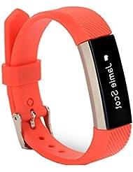 Fitbit Alta HR Correa, Malloom Recambio pulsera banda silicio correa cierre de Fitbit Alta HR Smart Watch pulsera (Rojo)