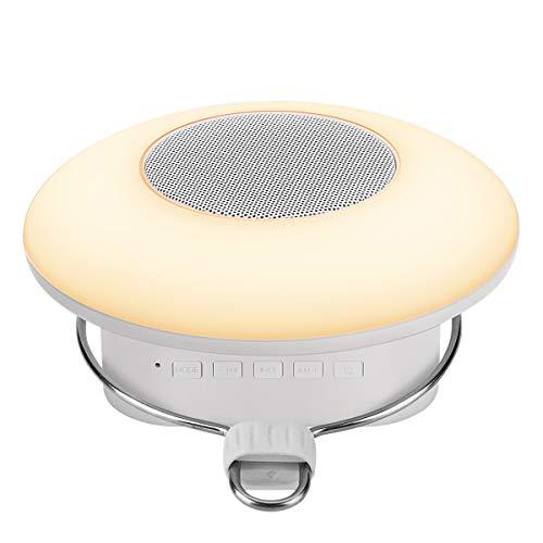 LE Campinglampe, wiederaufladbare Camping Hängelampe mit Haken, Touch Control RGBW Stimmungslicht mit Bluetooth Lautsprecher, geeignet für Zelt, Notfall, Ausfälle usw.