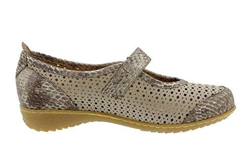 Chaussure femme confort en cuir Piesanto 6757 chaussure basse semelle amovible confortables amples Vison