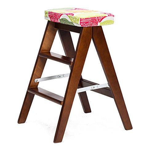 PLL Kreative Einfache Klappstuhl Massivholz Klappleiter Hocker Küche Hocker Tragbare Hocker Klappstuhl Hause Bank (Color : A) (Elastische Tisch Deckt)