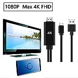 Cyond Type_C USB-zu-HDMI-HDTV-AV-Kabeladapter für Samsung Galaxy S9 / S9 Plus, S8 und Unterstützung für Apple MacBook