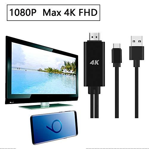 Cyond Type_C USB-zu-HDMI-HDTV-AV-Kabeladapter für Samsung Galaxy S9 / S9 Plus, S8 und Unterstützung für Apple MacBook -