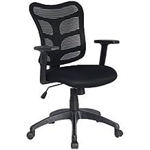 VIVA OFFICE Silla ergonómica de oficina de malla con respaldo alto, Negro