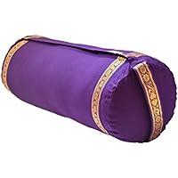 Preisvergleich für Yoga-Bolster mit Bezug aus Baumwolle-lila