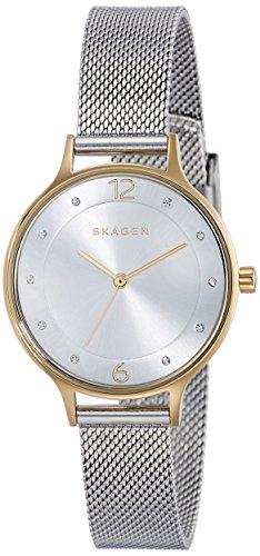 Skagen Orologio Analogico Donna con Cinturino in Placcato in Acciaio Inox SKW2340