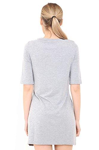 Fashionchic Damen Kleid Grau
