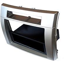 AERZETIX: Marco adaptador para radio de coche, vehiculos Color: plata
