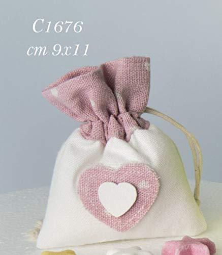12Stück Baby Freude Beutel Gastgeschenk 9x 11cm rosa Geburt Mädchen bomobniera (Baby-freude)