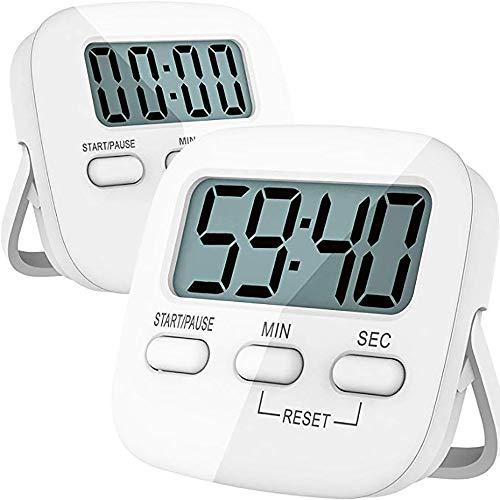 ALICED Küchen-Timer, Die Digital-Küche-Timer Großer LCD-Schirm Magnetic Countdown Stoppuhr Mit Lautem Alarm Und Loch An Der Rückseite Zum Einfachen Aufhängen Oder Tragen