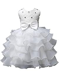 Voberry - Enfants Filles élégant Bowknot Robe de Soirée / Robe de Mariage - Princesse sans Manches - 2 à 7 ans