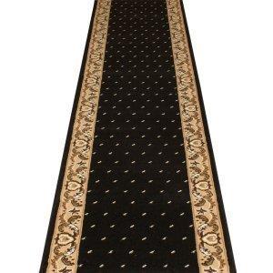 Carpet Runners UK Pin Dot Schwarz–Hall, Treppe Teppich Läufer (erhältlich in jede Länge bis 30m) (Ft 9 Läufer Schwarz L)