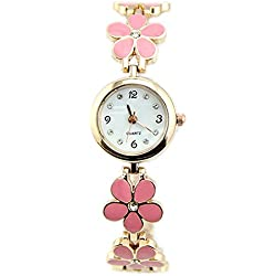 Sanwood Women Flower Bracelet Wrist Watch