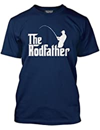 HotScamp The Rodfather - Fathers Day Dad Father Gift - Mens T-Shirt