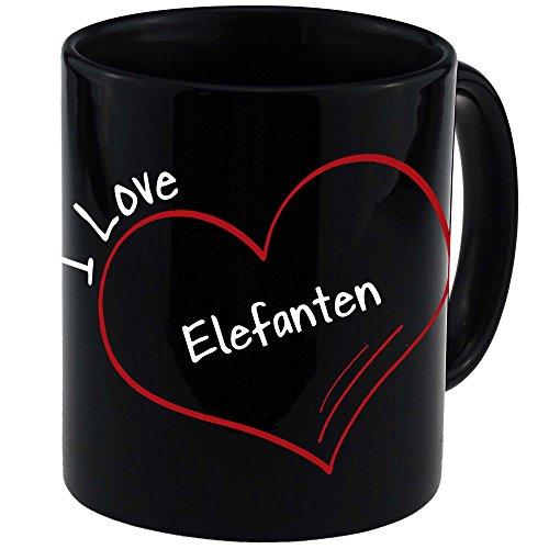 Reloj de colour negro y con diseño de elefantes de taza de...