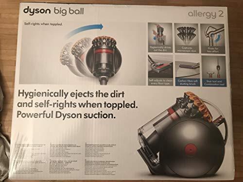 Dyson Big Ball Allergy 2 beutelloser Staubsauger (Inkl. pneumatischer Bodendüse, extra-soft Bürste mit Carbonfasern, Kombi-Treppendüse, Dank Zyklon-Feinstaubaufnahme für Allergiker geeignet)
