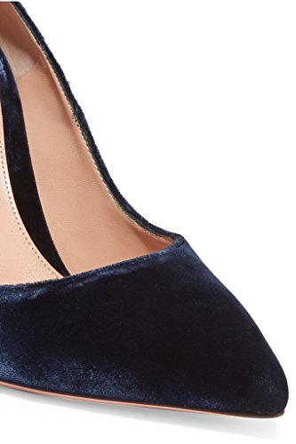 EDEFS - Escarpins Vernis Femme - Chaussures à Talons Hauts Aiguille - Bout Pointu PU Cuir - Fete Soiree Grande Taille VelvetNavy