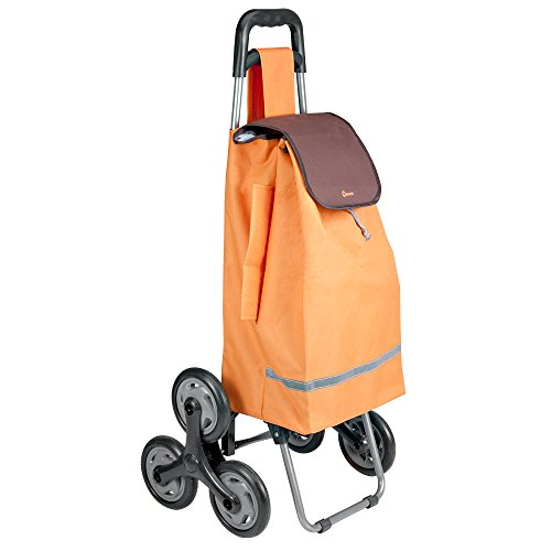 metaltex-40litri-6-wheel-papavero-marciapiede-e-scale-carrello-per-la-spesa-colore-beige-metallo-ora