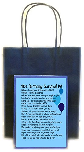 40TH BIRTHDAY SURVIVAL KIT BLUE