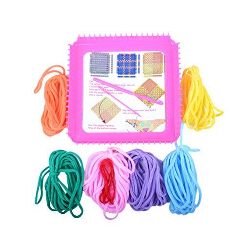 YeahiBaby Elastische Seil Flechter Stricken Webstühle Set Einstellbare Nähwerkzeuge DIY Set Kinder DIY Handwerk Spielzeug