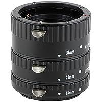 Impulsfoto–Anelli distanziali, 12mm, 21mm e 5mm per Fotografia Macro, per Canon EF/EF-S EOS 1100d, 1000d, 700d, 650d, 600d, 550d, 500d, 450d, 400d, 350d, 300d, 100d, 50d, 40d, 30d, 20d, 10d, 7d, 6d, 5d Serie 1d Serie Serie di switch stabilizzato M. - Adattatori Di Estensione Raccordi